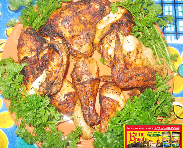 Grilled Chicken using Baltic Brand Marinade